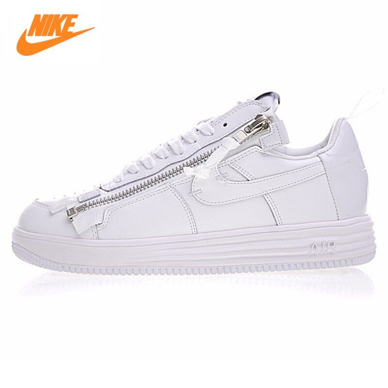 Nike Lunar Force 1 NikeLab X Acronym Men's Basketball Shoes,Original Sneakers Men's Air Force 1 Shoes,All White Color AJ6247-100