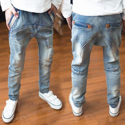 Vêtements pour enfants 2019 garçons denim harem pantalon printemps et automne enfants jeans
