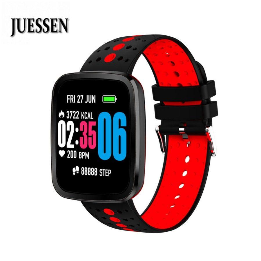 JUESSEN V6S Smart Bracelet waterproof Heart Rate Blood Pressure Smartwatch Outdoor Mode Fitness Tracker Reminder Wearable Device