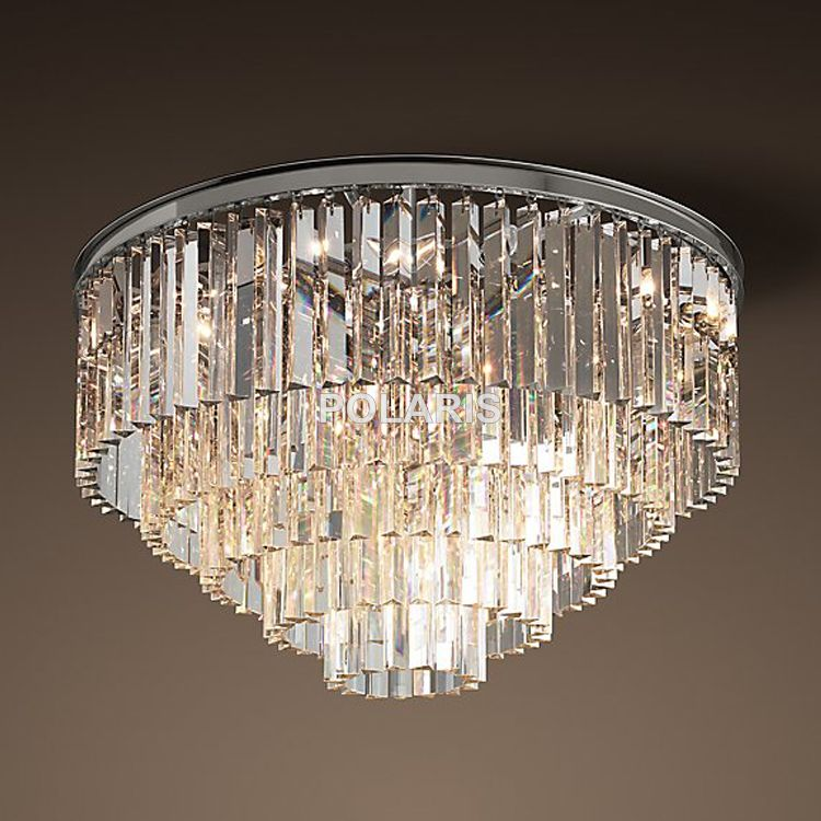 Free Shipping Modern Vintage Chandelier Crystal Flush Ceiling Mounted Light for Home Hotel Decoration