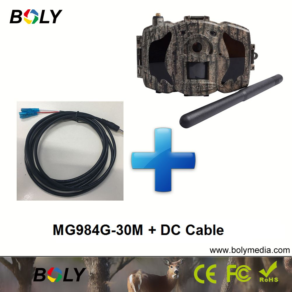 MG984G-30M with DC cable MMS GPRS celluar foto trappola 4g 100 ft detection range wireless hunting cameras cameras black IR 30MP