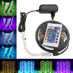 IPILY LED Strip light rgb 5m DC12V 3014 rgb diode led tape ribbon led tape with adapter and remote controller