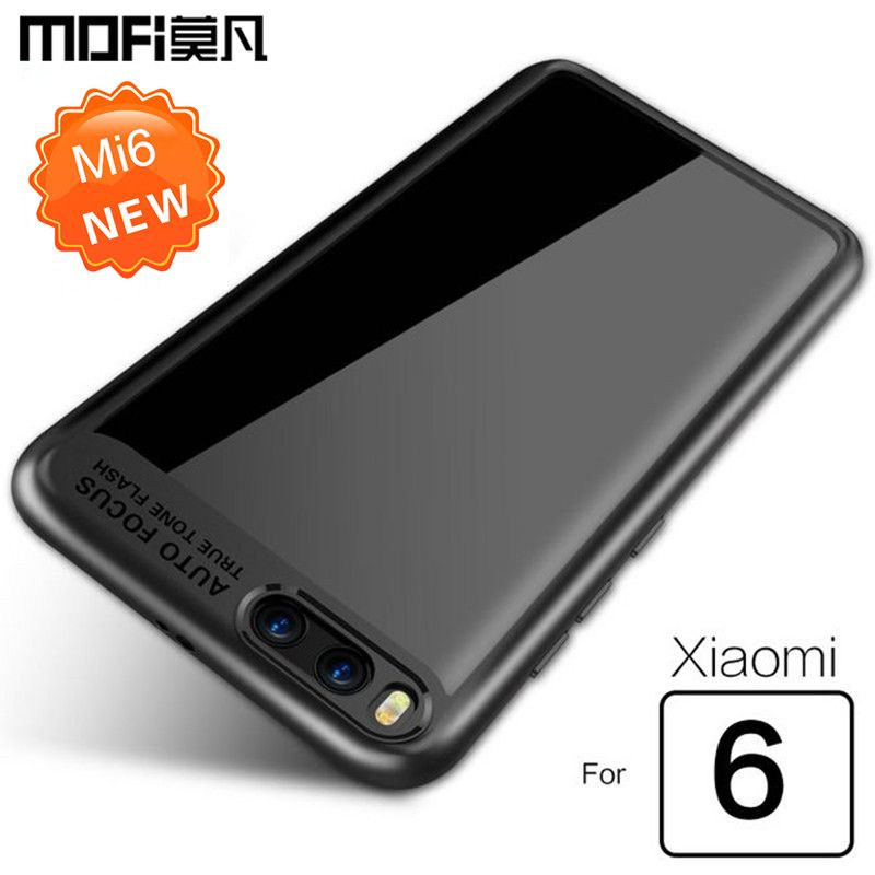 Xiaomi mi6 cas xiaomi 6 couverture arrière transparente silicone PC + TPU MOFi d'origine xiaomi mi 6 accessoires bleus