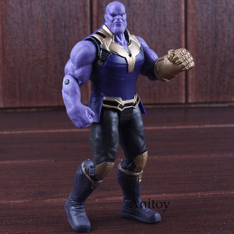 Avengers Infinity War Thanos Figure PVC Avengers Marvel Action Figures Thanos Toys Lighting Collectible Model Toy for children