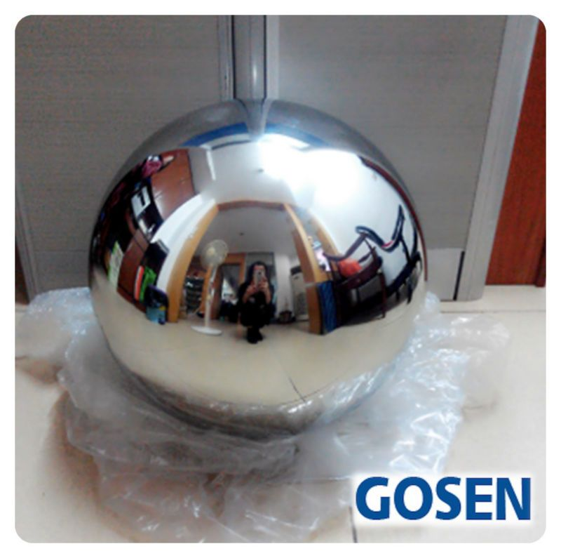 1 PCS 250MM Stainless Steel Hollow Ball Mirror Polished Shiny Sphere For Garden Ornament Free Shipping