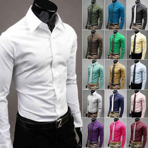 Nueva Moda Para Hombre Vestido de Lujo Con Estilo Ocasional Slim Fit Casual Manga Larga Blusa