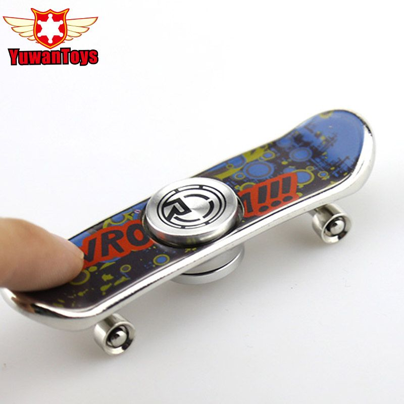 Finger Skateboard Mini Spinner Aluminum Alloy Hand Spinner Anti Stress Funny Toys Creative Fidget Toys Cool Gift ADHD Autism toy