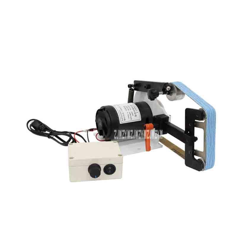 GTmini-l Mini DIY Belt Sander Small Desktop Multi-functional Belt Machine Polisher Grinding Machine 220V 700W 0-32m/s (660*25mm)