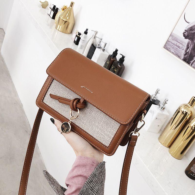 2018 new trend handbags retro simple flap shoulder bag Hailing