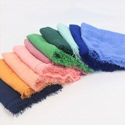 Cotton Headscarf Muslim Headscarf Hijab Solid Color Fashion Headscarf Outdoor Ethnic Clothing 15 Colors Islamic Middle East