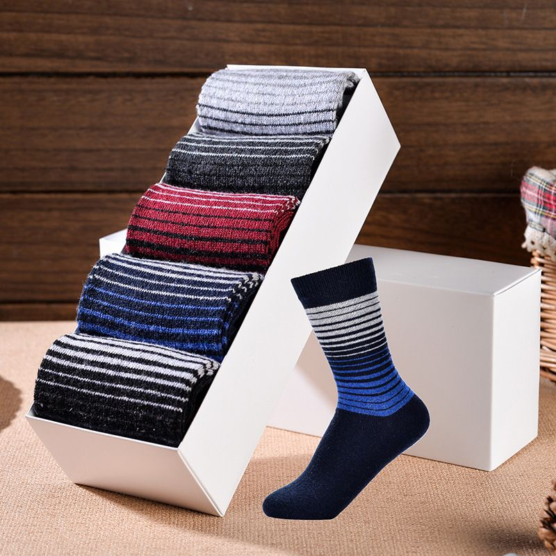 Hot Sale Newest design Aristocratic Man's Warm wool socks Male brand Socks Brethable Casual Christmas socks (5 pairs/lot )