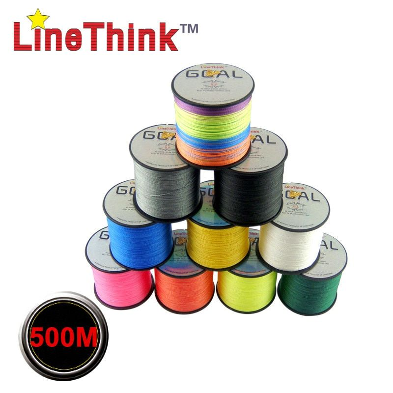 500M Brand LineThink GOAL Japan Multifilament 100% PE Braided Fishing Line 6LB to 120LB