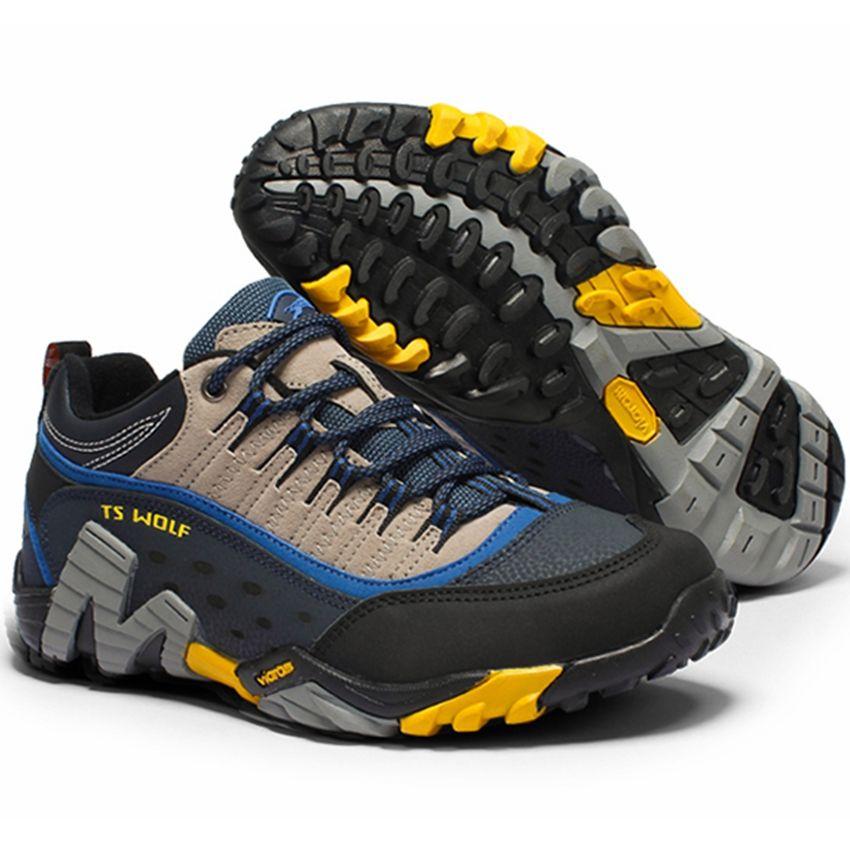 Hommes chaussures de randonnée en plein air imperméable respirant chasse chaussures de trekking marque en cuir véritable sport escalade chaussures de randonnée baskets