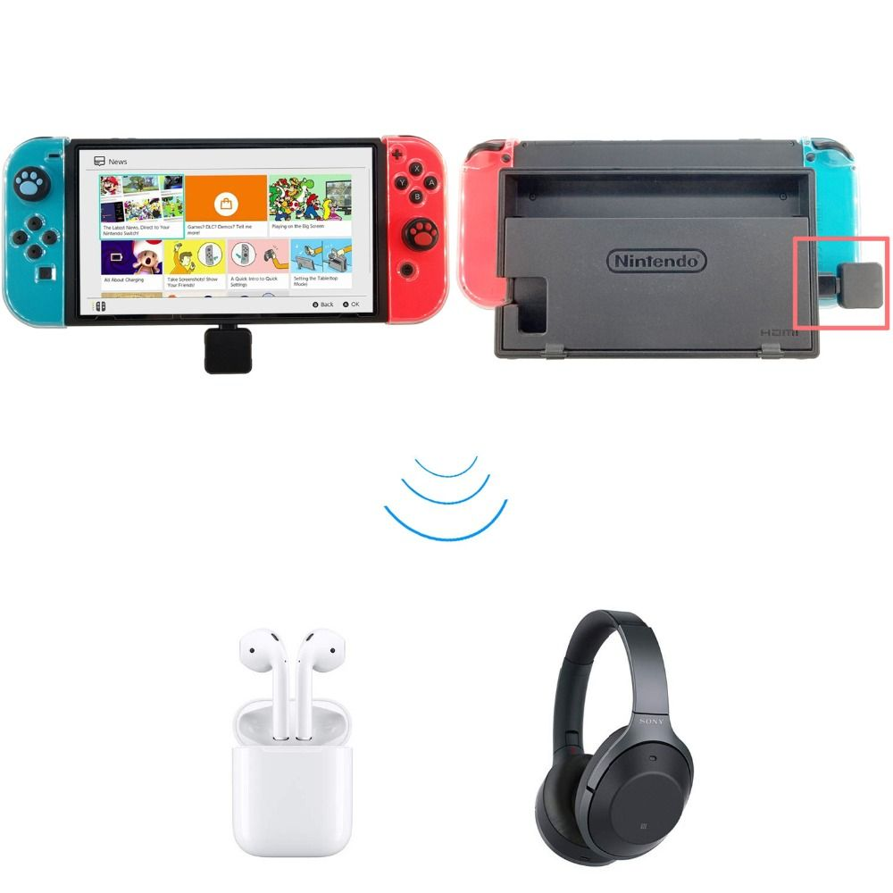 USB Type C Wireless Bluetooth 4.0 Adapter Dongle Headphones Audio Transmitter for NS Switch Splatoon Zelda PS4 Electronic Toys