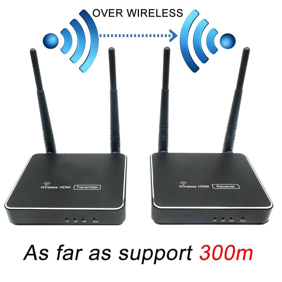 300 m (984ft) wireless HDMI Sender Empfänger Mit IR Fernbedienung HDMI Wireless Extender Unterstützung 1080 P WIFI Sender Empfänger