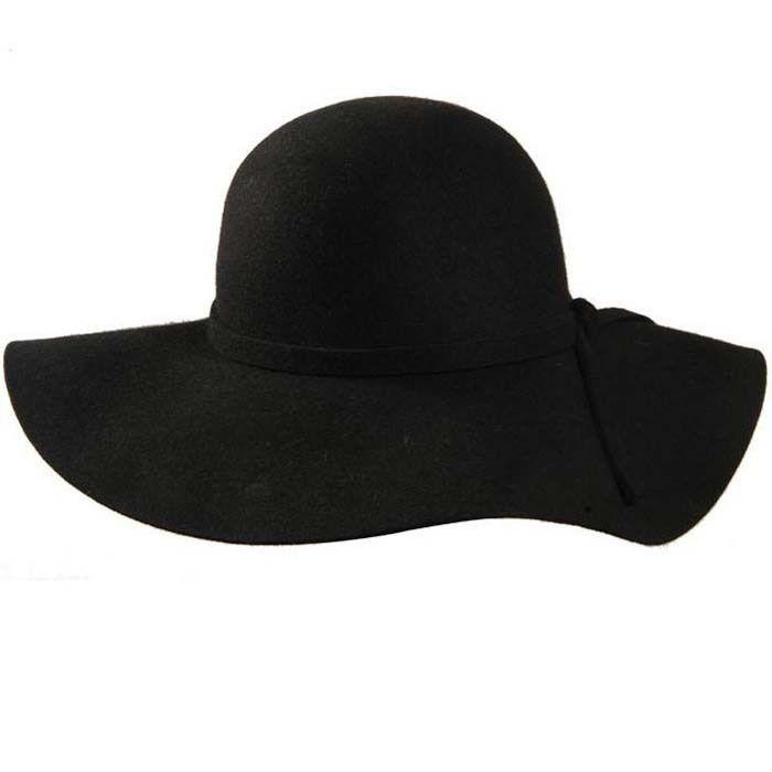 100% pure laine casquettes fedoras Hofn's stetson plage disquette large bord soleil chapeau pliable avec cravate pour les femmes automne-été pour 2019