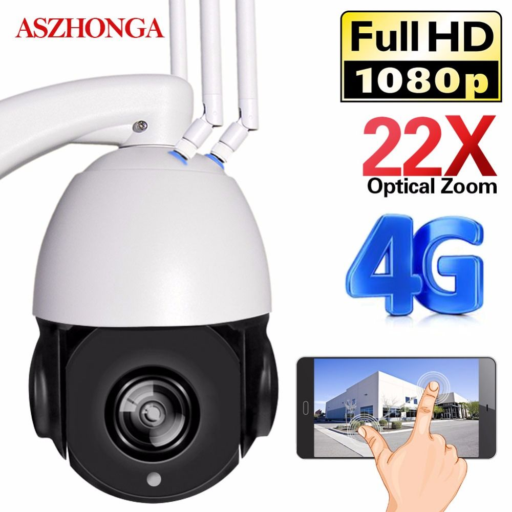 3G 4G 1080P WIFI IP CCTV Security Camera PTZ Speed Dome Wireless IR Outdoor Waterproof 22X Optical Zoom SIM SD Card H.264 Audio