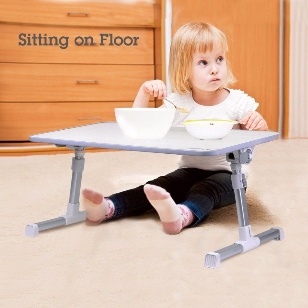 Quality Adjustable Laptop Table, Portable Standing Bed Desk, Foldable Sofa Breakfast Tray, Notebook Stand Reading Holder for Kid