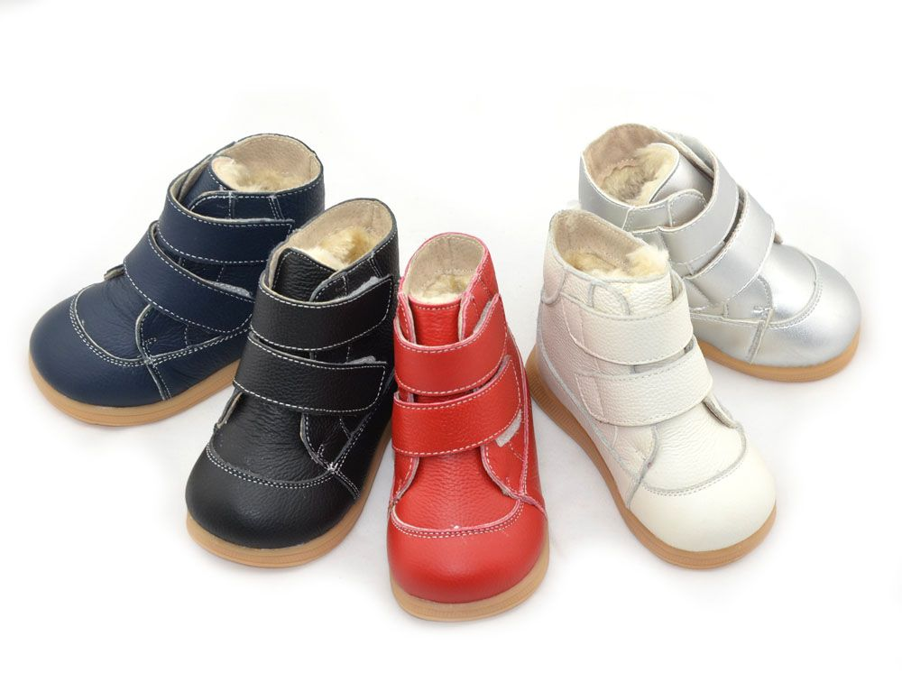 little boys boots winter white black navy red silver footwear for kids girls boots warm simple fashion shoes straps