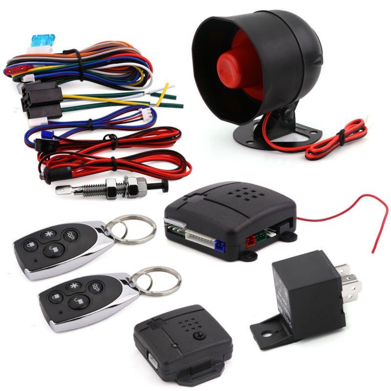 Breakix Central Locking With Remote Control Power Locks Cierre Centralizado Keyless Entry Security Alarm System Kit Auto 1 Siren