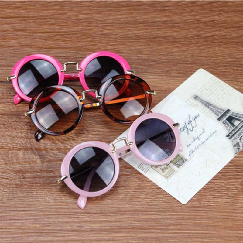 KOTTDO 6 Couleurs Mode Ronde Enfants Mignons Lunettes De Soleil Marque Garçons lunettes de soleil Bébé Vintage enfants lunettes Cadeau Oculos De Sol Ga