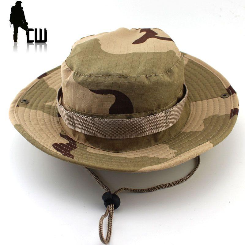 Tactique Airsoft Sniper Camouflage Boonie Chapeaux Népalais Cap Militares Armée Mens Américain Militaire Accessoires Randonnée a-tacs FG