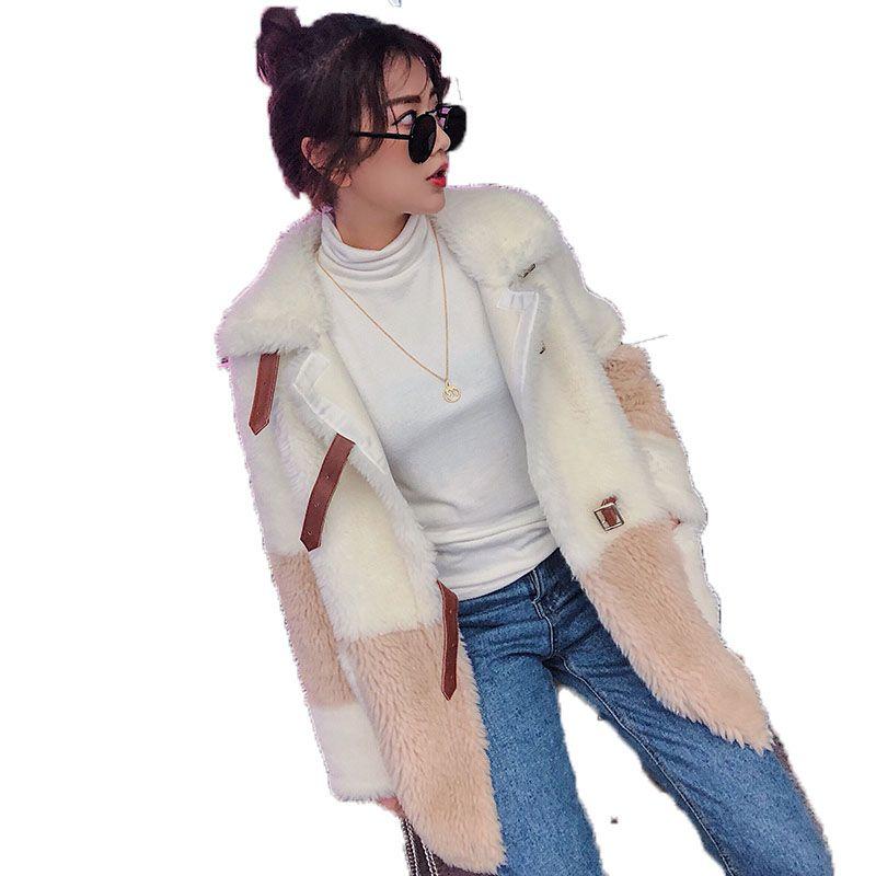 Real Fur Coat Winter Jacket Women Clothes 2018 Wool Jacket Korean Elegant Slim Fit Sheep Shearling Fur Coats Abrigo Mujer ZT581