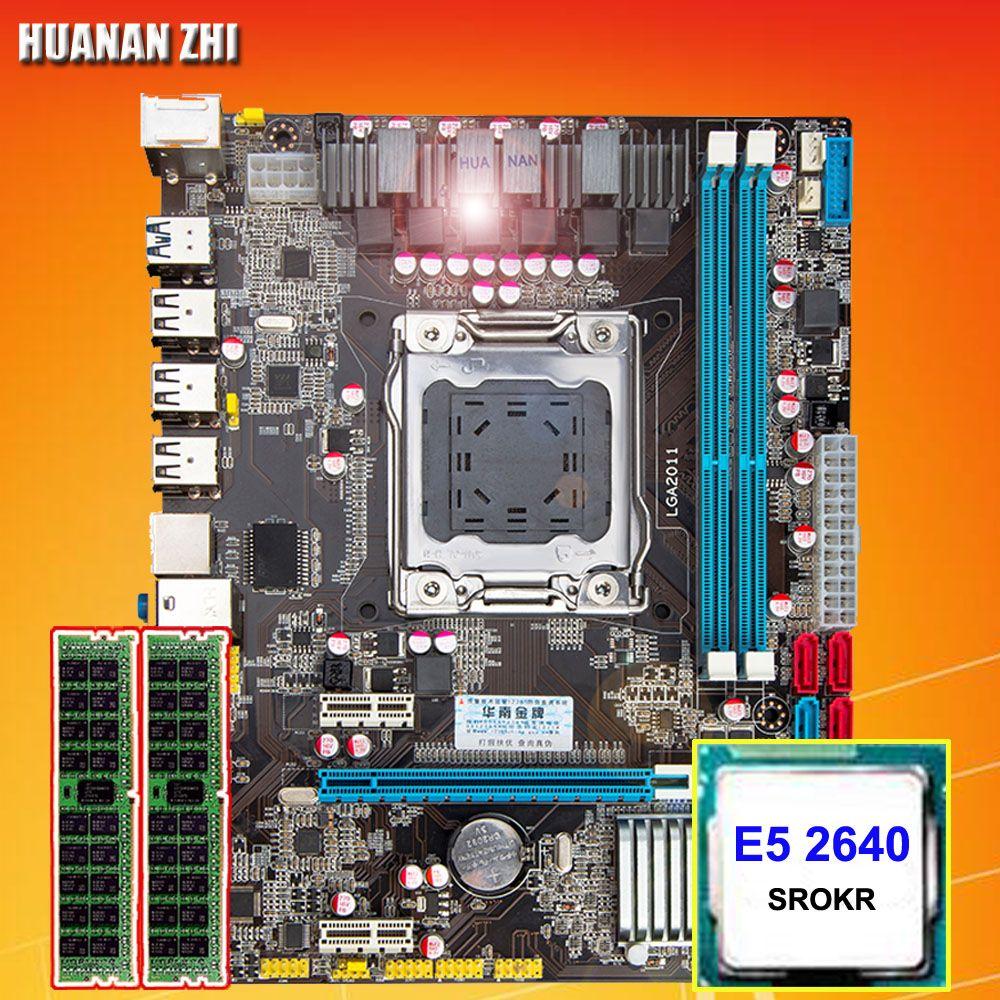 Computer DIY HUANAN ZHI X79 Micro-ATX motherboard CPU RAM combos CPU Intel Xeon E5 2640 SROKR 2,5 ghz RAM 8g (2*4g) DDR3 REG ECC