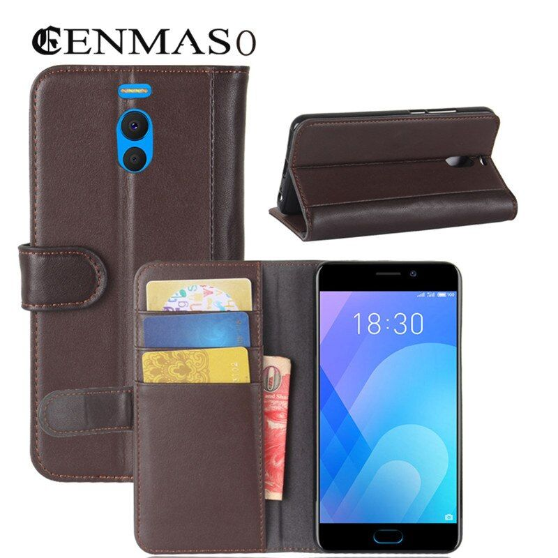 case For Meizu M6 note case cover TPU back cover Genuine leather flip wallet cases for Meizu M6 Note M 6 Note phone capa funda
