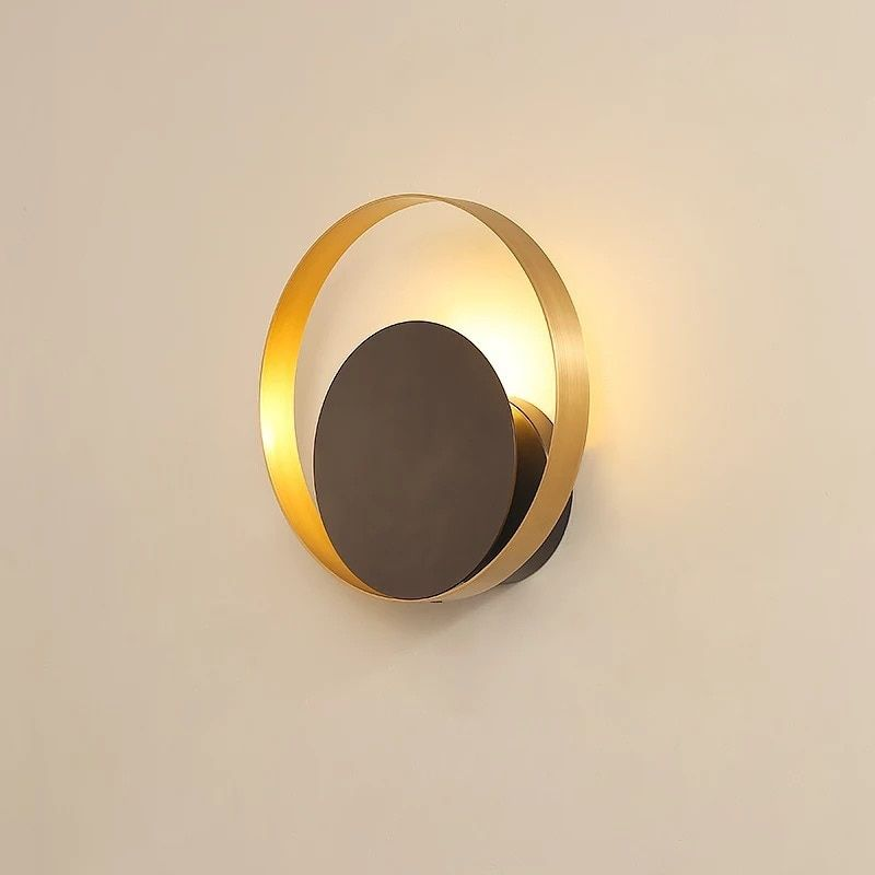 Lamparas de techo bedside lamp nordic modern led wall sconce for bedroom Abajur background gold home deco led wall light fixture