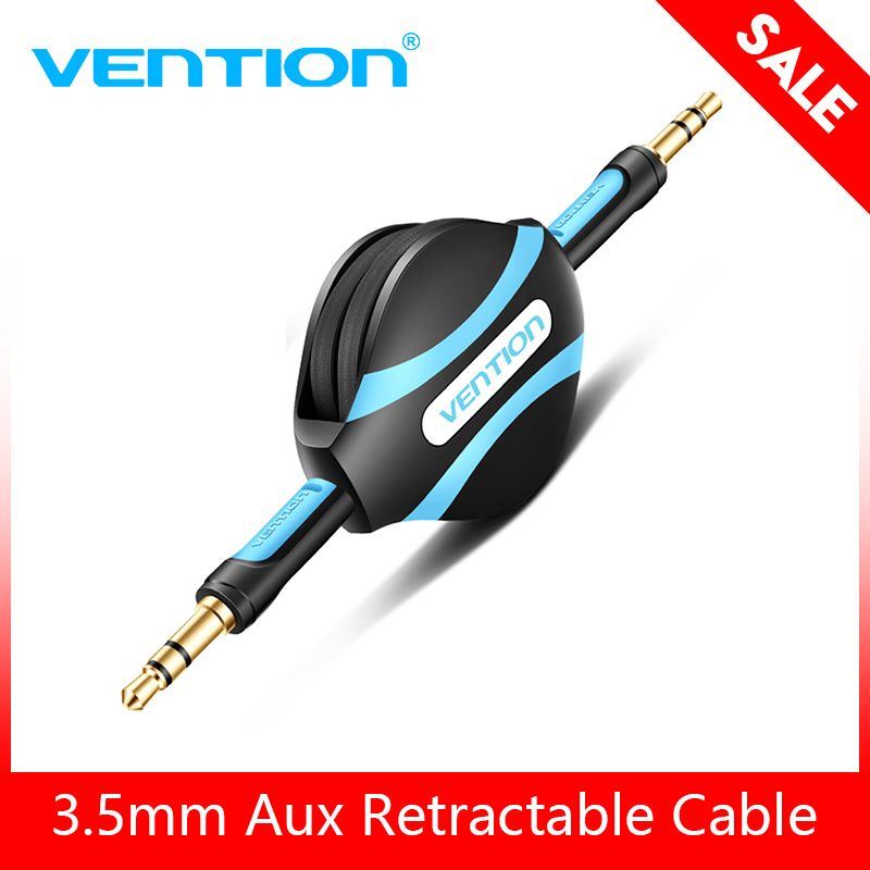 Vention Retractable Aux Cable 3.5mm Male to Male Auxiliary Stereo Jack Audio Cable For phone Car Sumsung Mp3 p4 Laptop Aux Wire