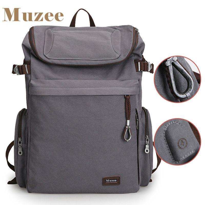 2019 nouveau sac à dos Vintage de marque Muzee grande capacité hommes hommes sac à bagages en toile sacs de voyage de qualité supérieure sac de voyage