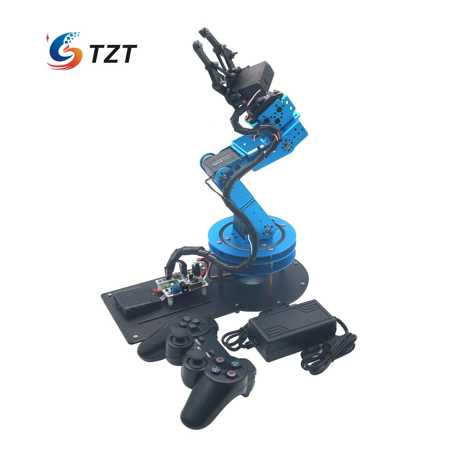 2018 LeRot 6DOF Mechnical Robot Arm with Digital Servo and Controller for DIY Unassembled