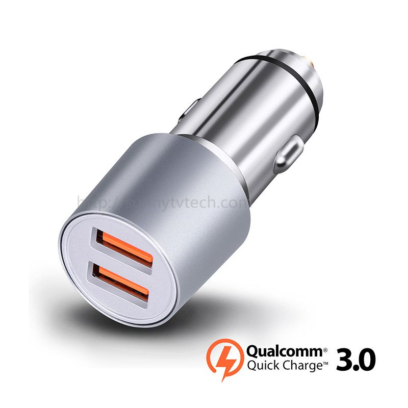 Quick Charge 3.0 2 Port Support QC3.0 36W USB Car Charger for Xiaomi Mi4 5 iPhone Samsung Galaxy S7 S6 Note HTC M9 Nexus 6