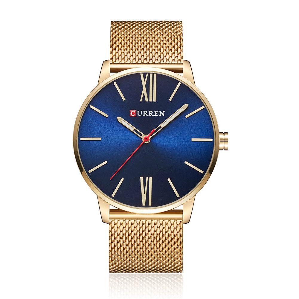 2017 Curren Мужская Мода Бизнес Кварц спортивные часы люксовый Военное Дело Наручные часы Резиновая Relogio masculino 8238