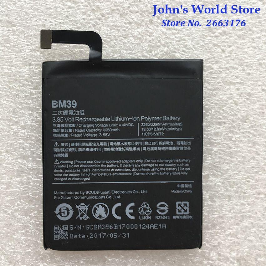 Für BM39 3250/3350 mAh Original Batterie für Xiao mi mi 6 mi 6 Rice6 Reis 6 Batterie Batterie bateria Akkumulator Smart Telefon