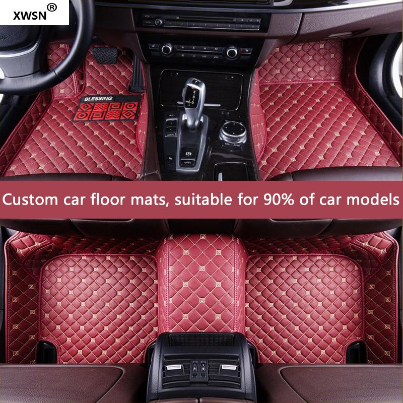 XWSN custom car floor mat for Porsche All Models Cayenne Macan Panamera cayman boxster 718 911 auto accessories Car styling