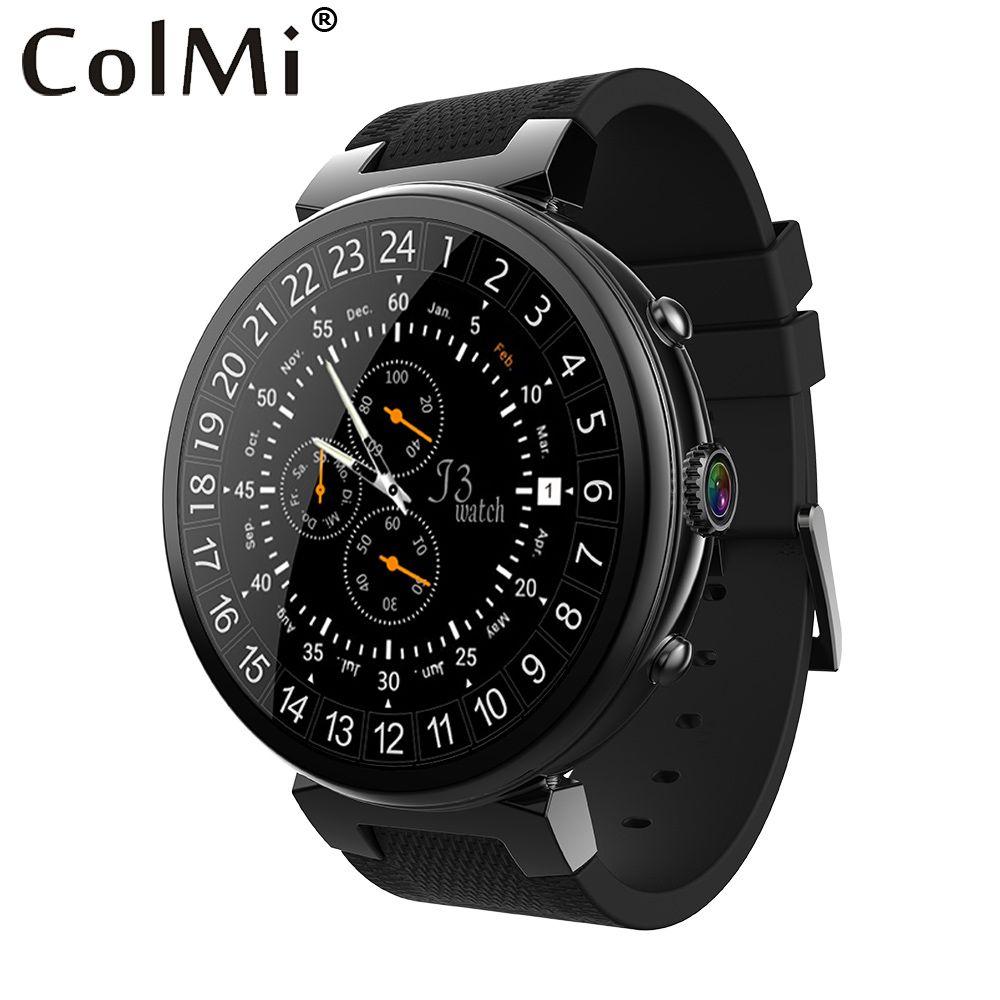 ColMi Inteligente Reloj i3 RAM 2 GB ROM 16 GB Cámara de 2MP Android 5.1 OS 3G WIFI GPS Monitor de Ritmo Cardíaco Smartwatch Para Android IOS Teléfono