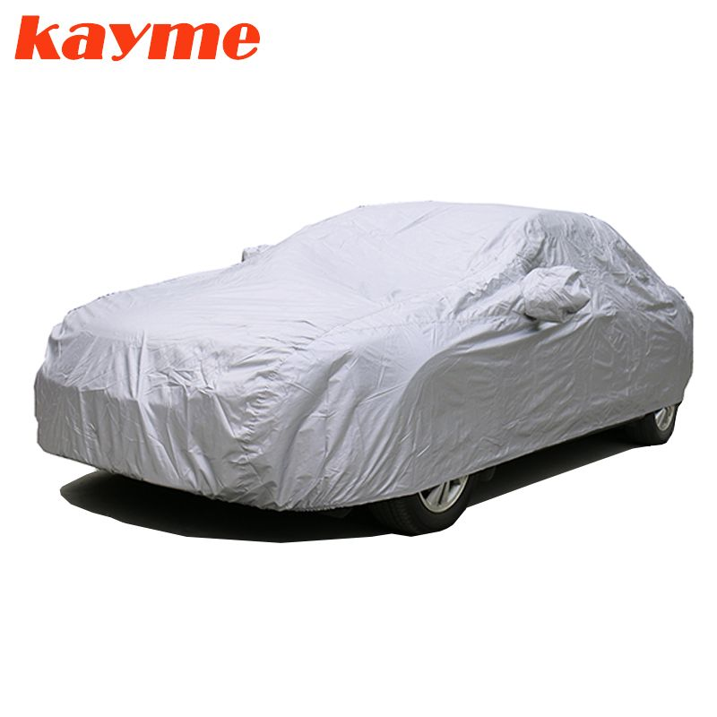 Kayme Full Car Covers Dustproof Outdoor Indoor UV <font><b>Snow</b></font> Resistant Sun Protection polyester Cover universal for Suv Toyota BMW vw