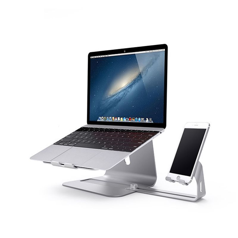 Portable Laptop Stands Hizek Aluminum Alloy Desktop Stands and Mobile Phone Holder Computer Heat Dissipation Fit for PC Macbook