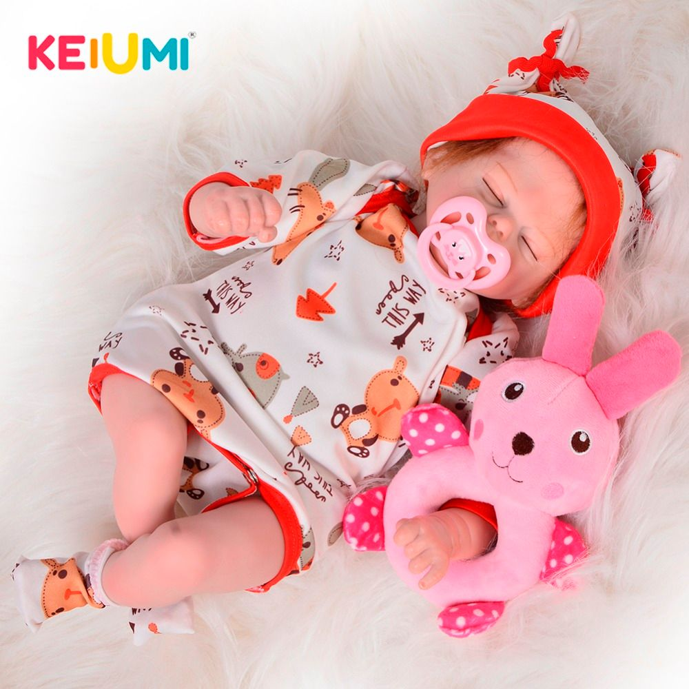 New Design 17'' 42 cm Lifelike Reborn Dolls Soft Silicone Sleeping Simulation Doll Toy For Children's Day Gift Kid Best Playmate