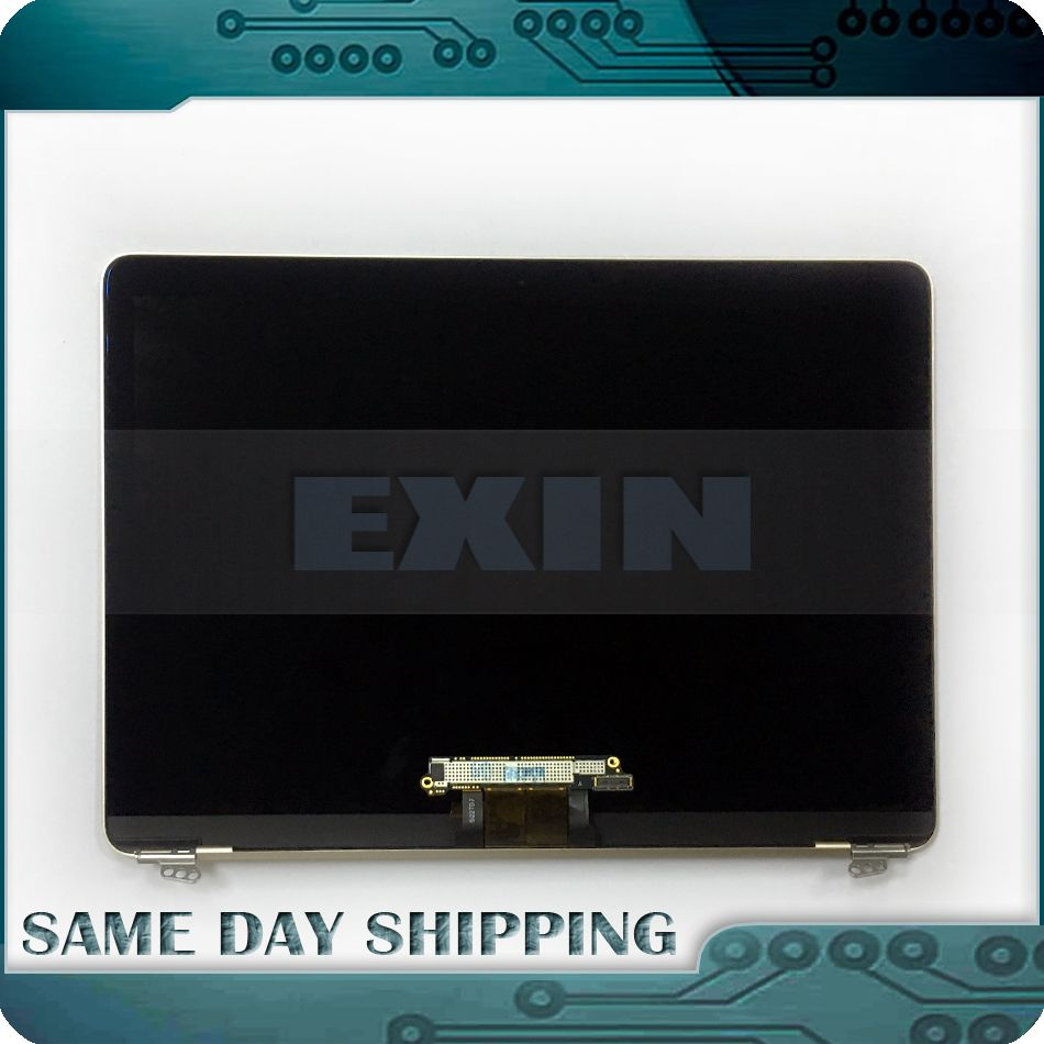 Genuine Golden Gold Silver Grey Rose Gold Color A1534 LCD LED Display Full Assembly for Macbook Retina 12'' 2015 2016 2017 Year