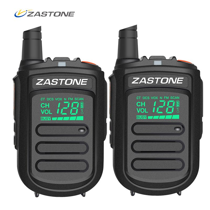 2pcs Original Zastone Mini9 portable mini walkie talkie UHF 400-480MHz Ham Amateur RadioTwo Way Radio 128 Channels walkie talkie