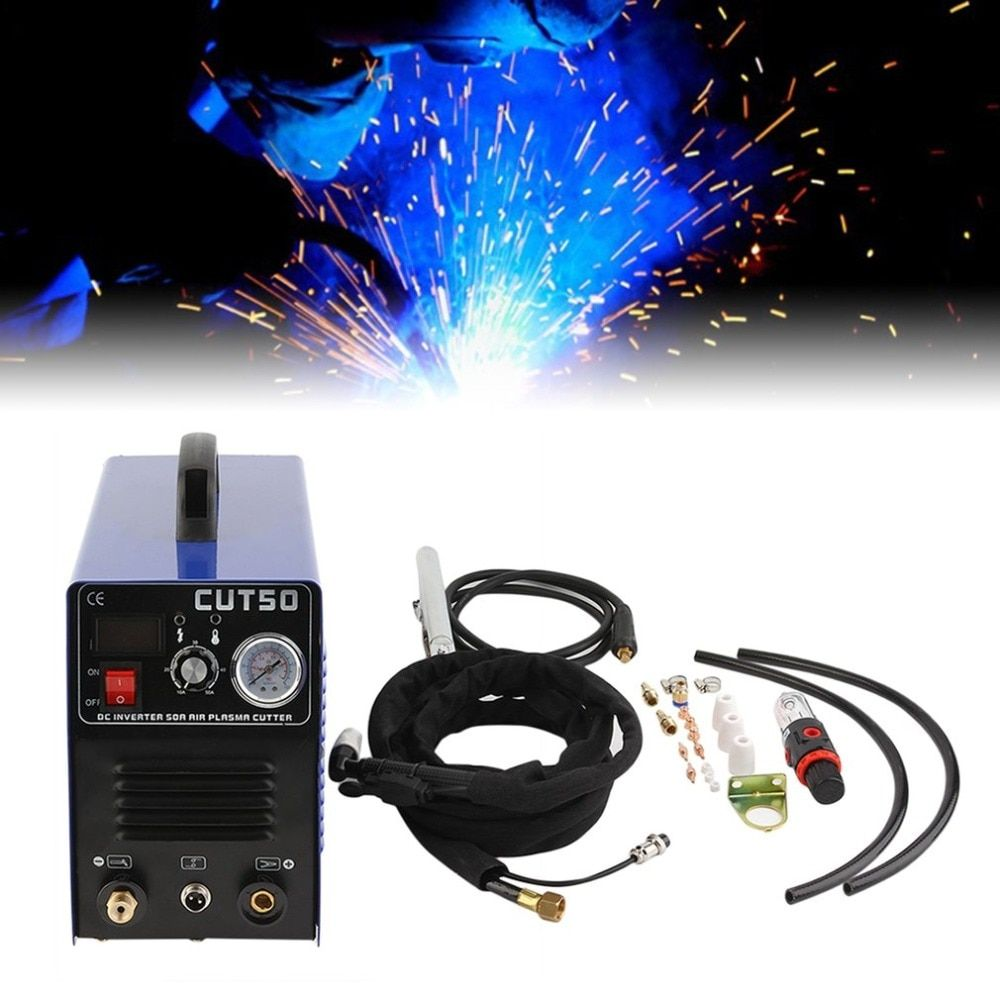 Professional Electric Air Plasma Cutting Machine Digital Inverter Plasma Cutter CUT50 With Plasma Torch & Consumables Hot Sale