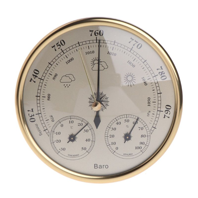 Wall Mounted Household Barometer Thermometer Hygrometer Weather Station Hanging -m18