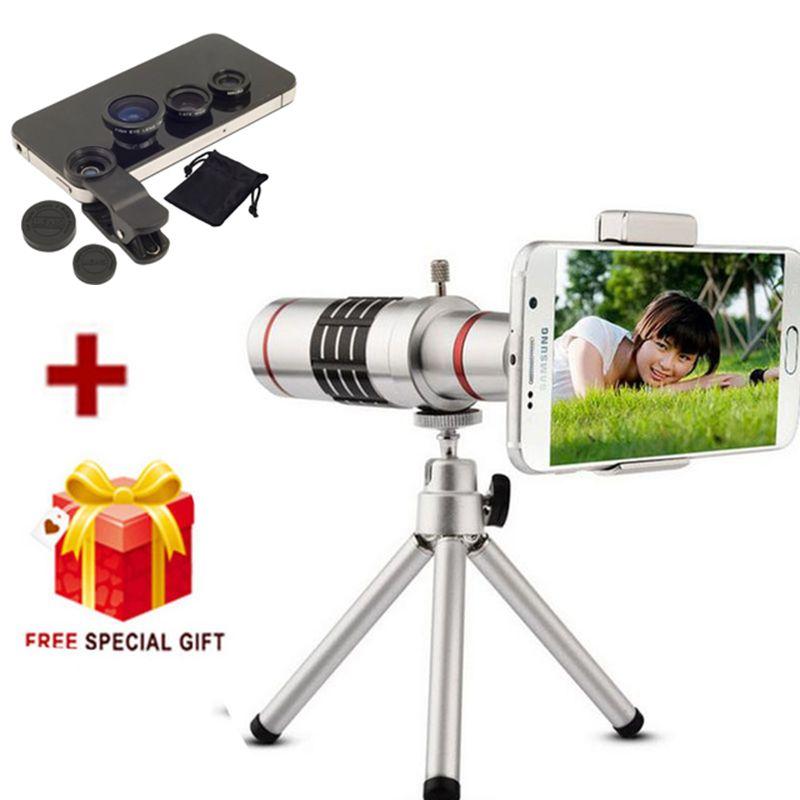 Universal 18X Zoom Handy-teleskop-teleobjektiv Kameraobjektiv + Stativ für iphone 8 7 Samsung Galaxy S8 S7 rand S8 Plus oneplus 3 t