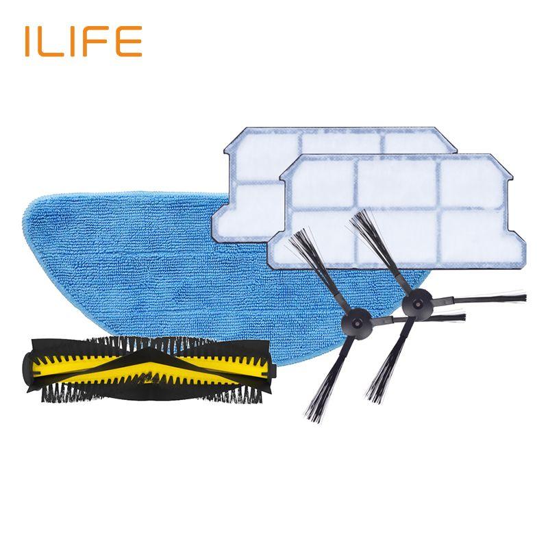 ILIFE V7s Plus Kits de remplacement de rechange filtre vadrouille brosse latérale en tissu