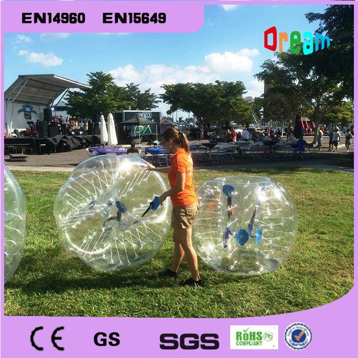 Freies Verschiffen 1,2 mt Aufblasbare Fußballblase Ball Stoßkugel Körper Zorbing Blase Fußball Menschliche Prahler Bubbleball Zorb Kugel