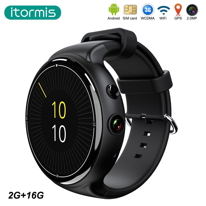 Itormis inteligente smartwatch reloj Bluetooth Androide 3G tarjeta SIM Quad-core MTK6580 RAM 2G Rom 16G Cámara WiFi GPS Del ritmo Cardíaco i4 aire