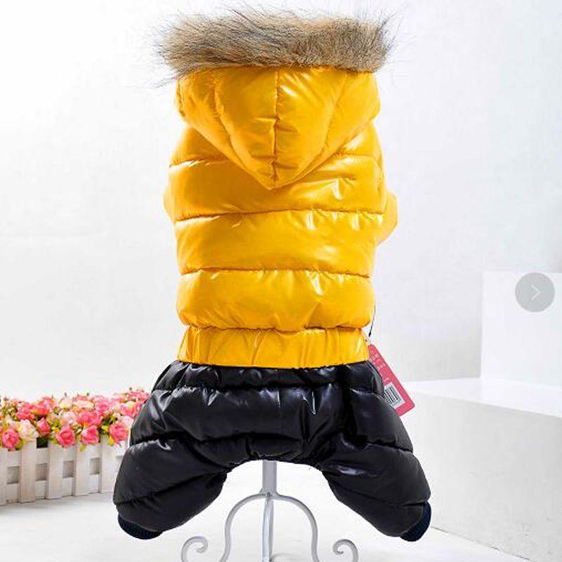 2017 Pet Vêtements pour Chiens Hiver Chaud Vêtements Pour Animaux chien Vêtements Manteau veste pour petit grand chien Vêtements Salopette